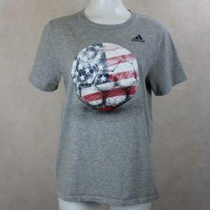 Vtg Adidas The Go To Tee Soccer USA T-shirt